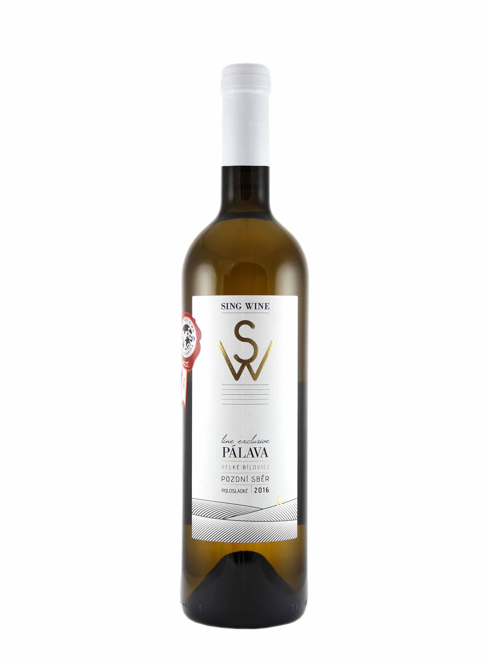 Pálava, Exclusive, Pozdní sběr, 2016, Sing Wine, 0.75 l
