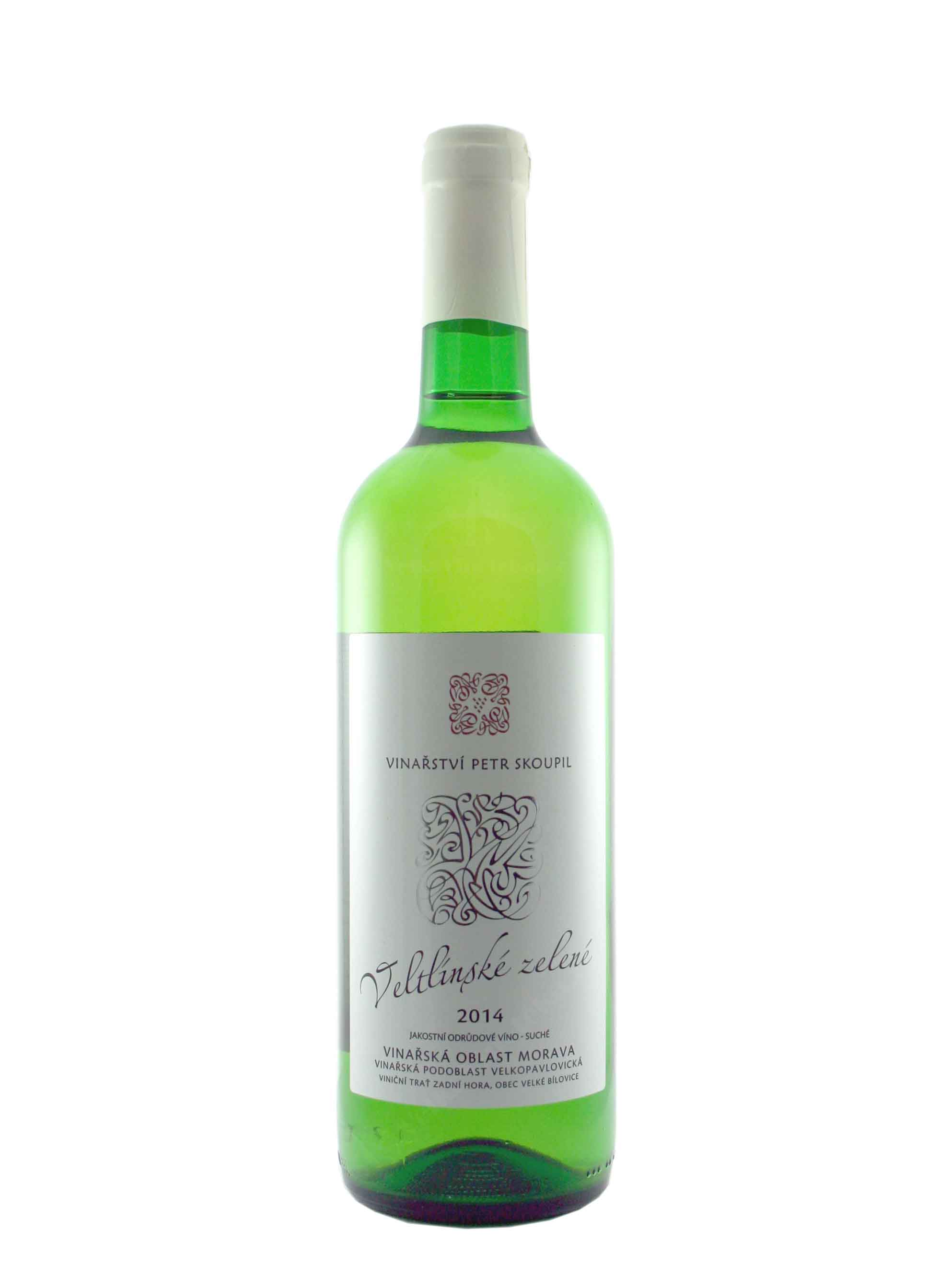 Veltlínské zelené, Jakostní odrůdové, 2014, Vinařství Petr Skoupil, 0.75 l