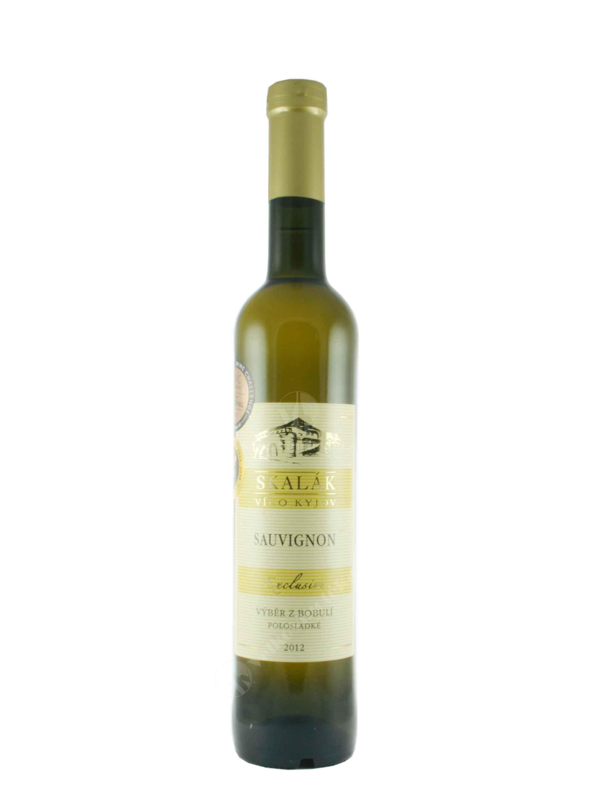 Sauvignon, Exclusive, Výběr z bobulí, 2012, Sklep Skalák, 0.5 l