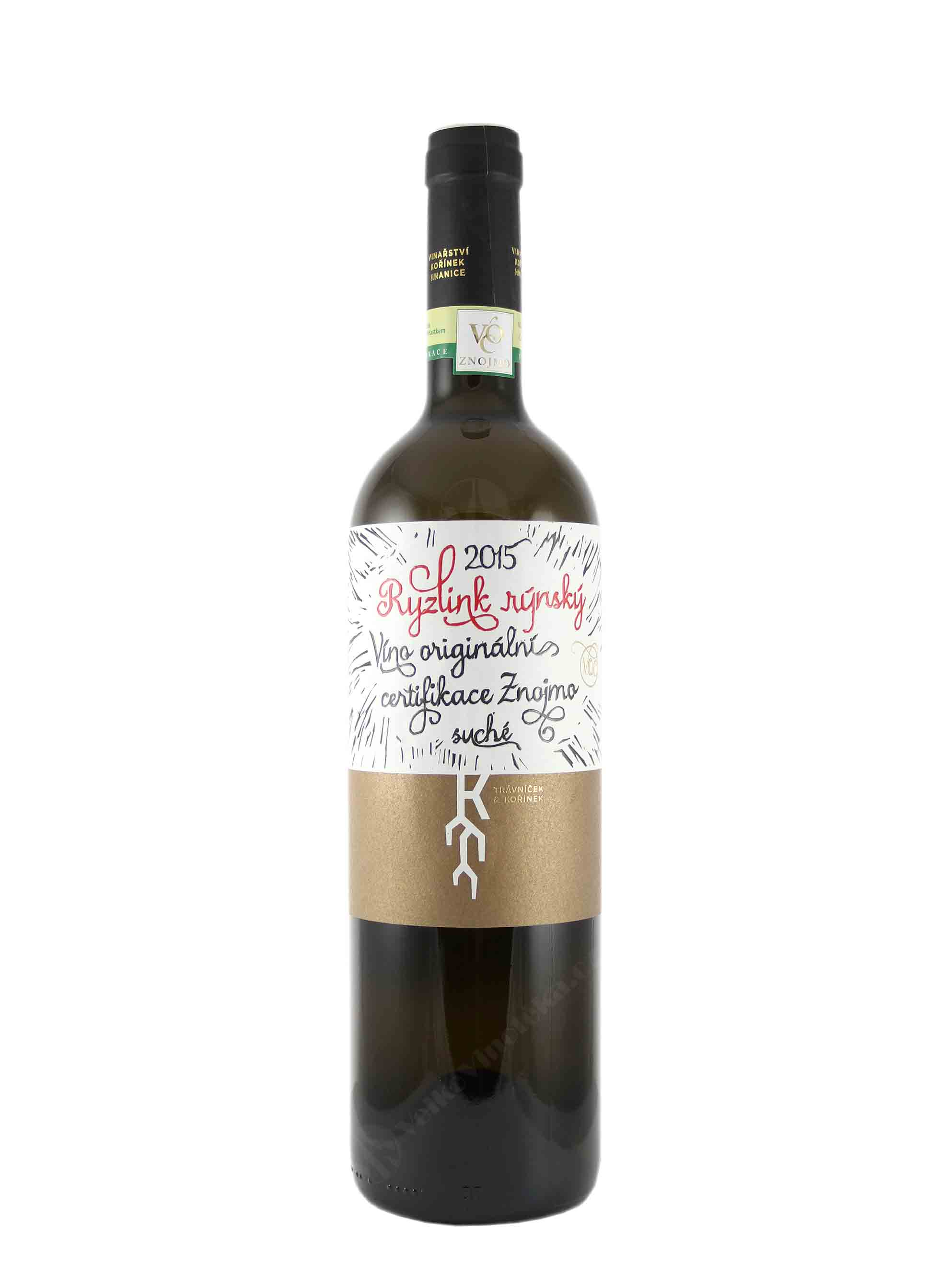 Ryzlink rýnský, VOC, 2015, Vinařství Trávníček & Kořínek, 0.75 l