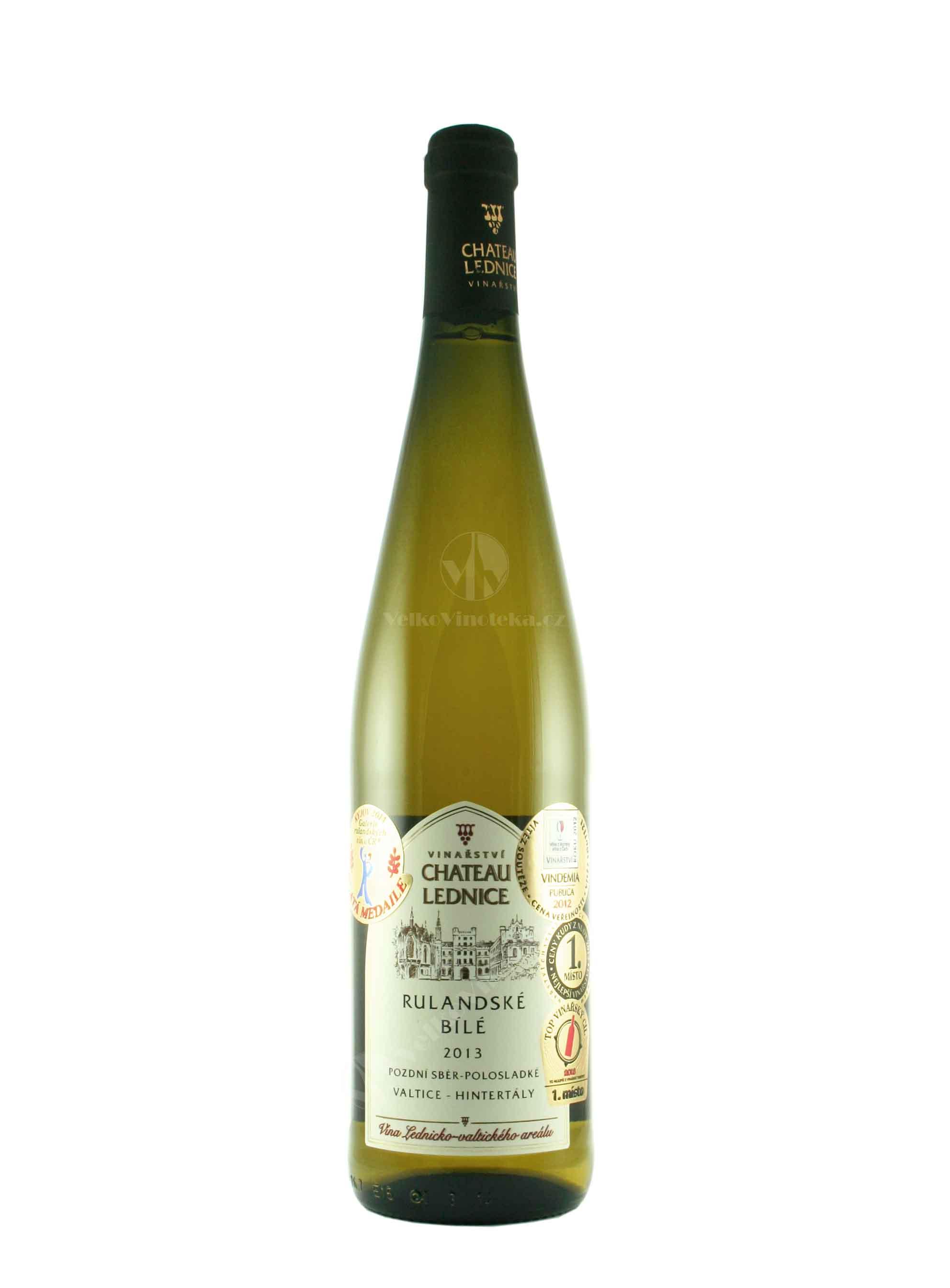 Rulandské bílé, Pozdní sběr, 2013, Château Lednice, 0.75 l