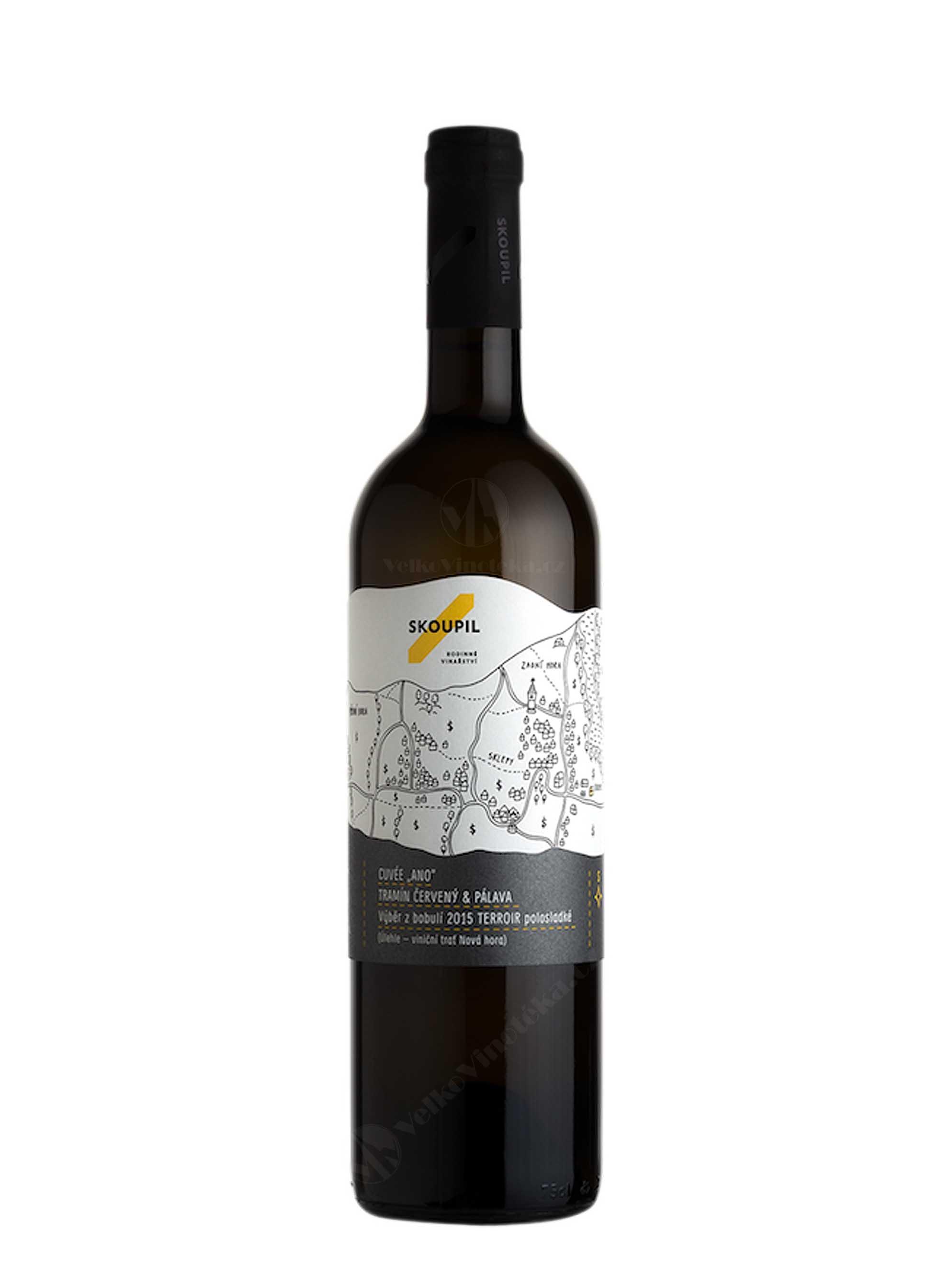 Cuvée Ano, Terroir, Výběr z bobulí, 2016, Vinařství Petr Skoupil, 0.75 l