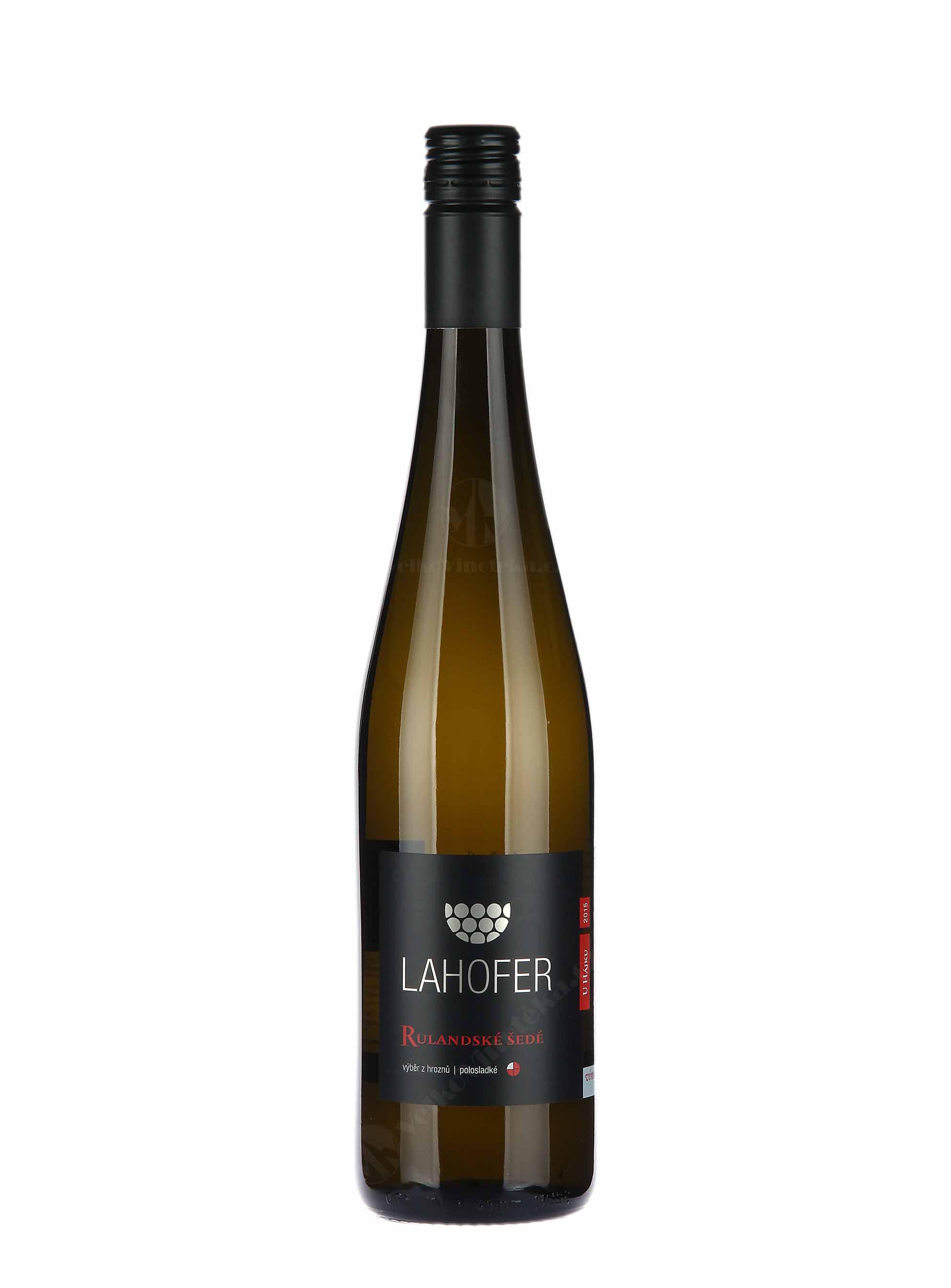 Rulandské šedé, Výběr z hroznů, 2015, Vinařství Lahofer, 0.75 l