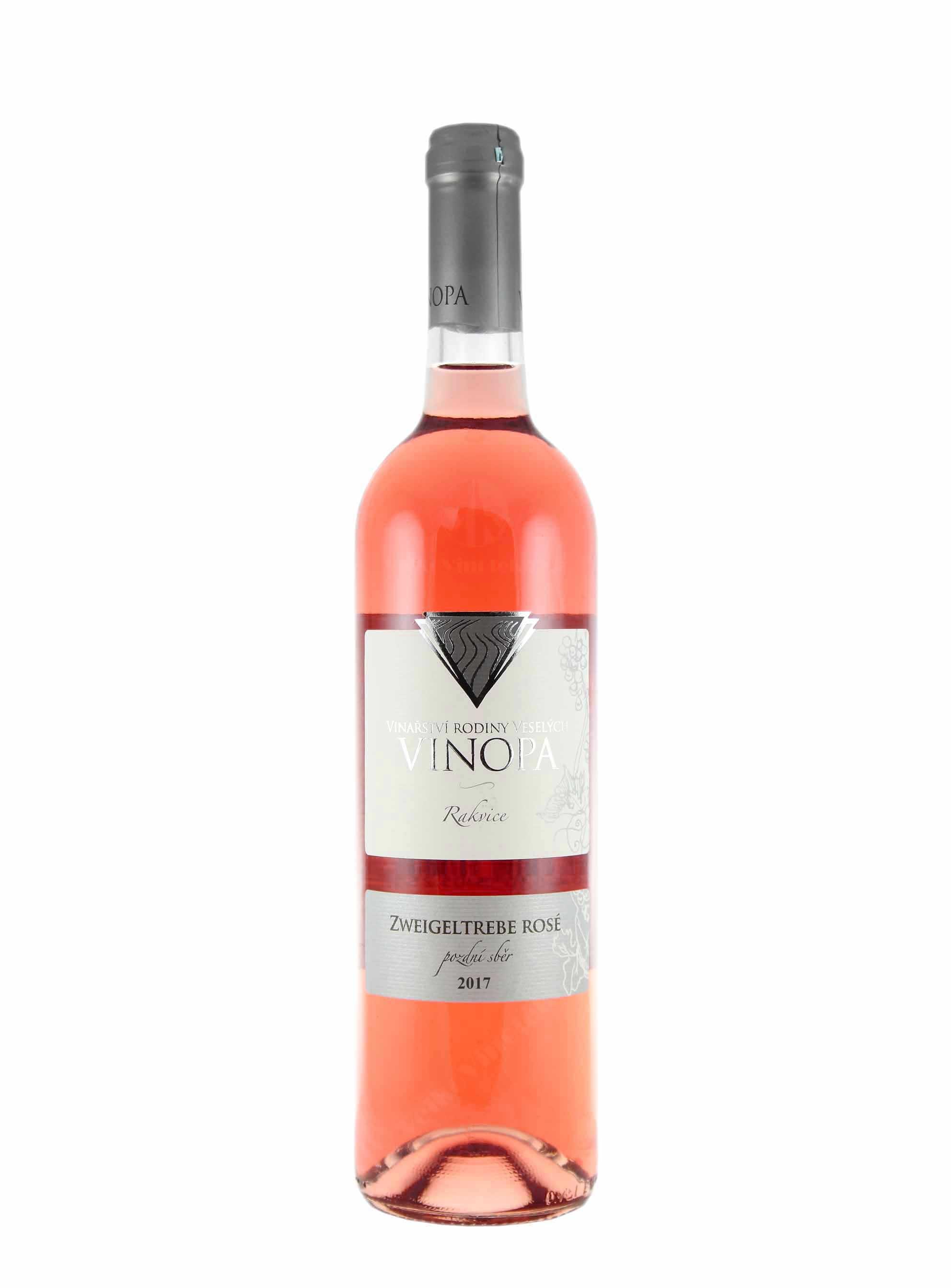 Zweigeltrebe rosé, Pozdní sběr, 2017, Vinařství Vinopa, 0.75 l