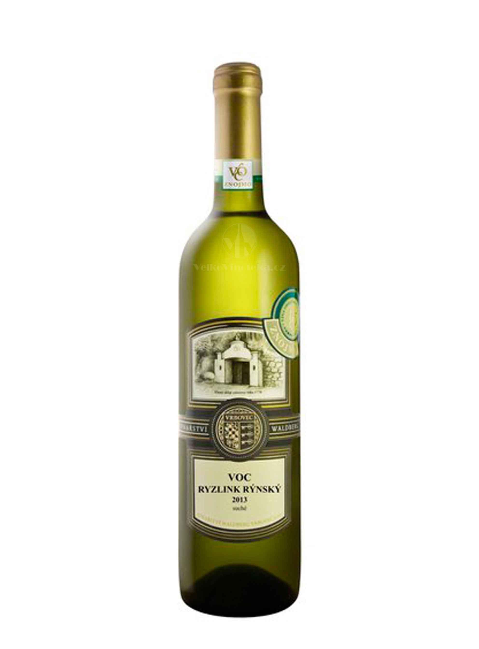 Ryzlink rýnský, Terroir, VOC, 2013, Vinařství Waldberg, 0.75 l
