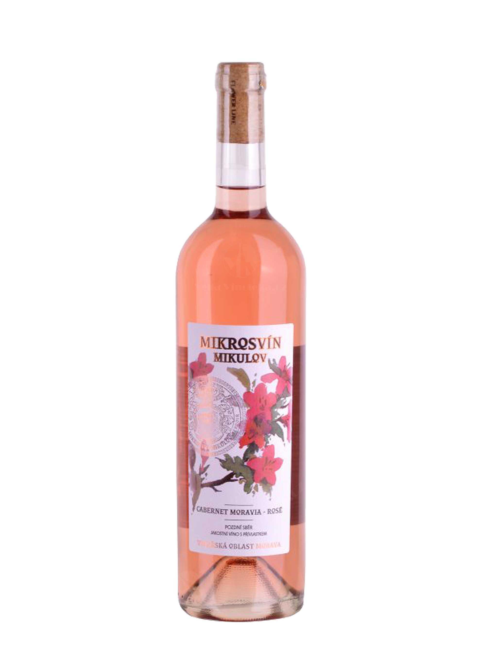Cabernet Moravia - rosé, Flower Line, Pozdní sběr, 2015, Mikrosvín, 0.75 l